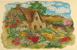 """Мозаичное панно """"Домик в деревне"""""""