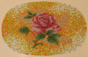 Мозаичное панно с розой