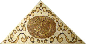 Орнаменты и узоры из стеклянной плитки мозаика - Логотип.