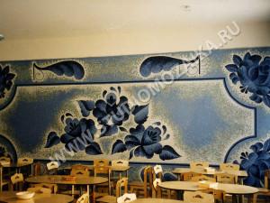 Мозаичное панно  -Гжель.