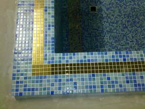 облицовка поверхностей мозаикой.