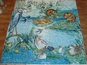 Мозаичное панно  для ванной комнаты.
