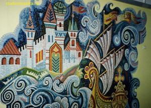 Мозаичная сказка в интерьере Детского садика.