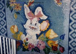 Детское счастье  -мозаичное панно в интерьере Детского садика.