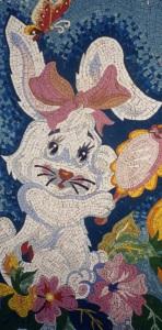 Мозаичное панно -Зайка.