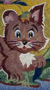 Мозаичное панно - Котенок.
