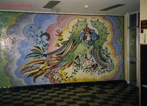Мозаичное панно в интерьере городской детской поликлиники.