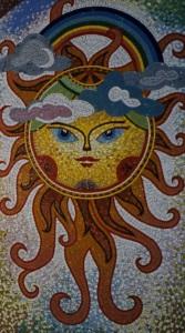 Мозаика в интерьере - Солнце.