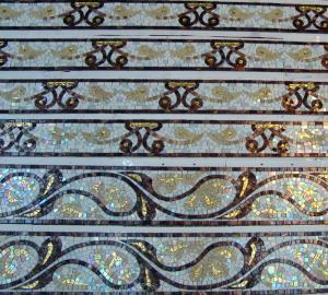Орнамент  в ванную комнату из мозаики.