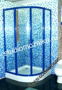 Мозаичная растяжка  в ванной комнате.
