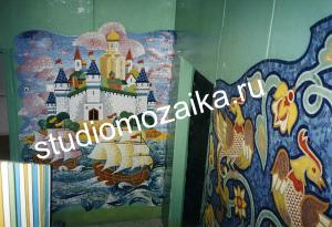 Мозаичное панно в интерьере Детского сада.