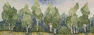 Фартук для кухни -художественное исполнение в мозаике.