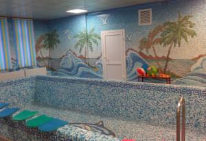 Мозаичное панно в бассейне Детского Сада.