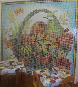 Мозаичное панно в детском саду -Натюрморт.