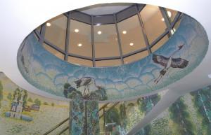 Мозаичный купол в интерьере.