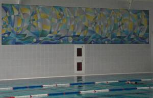 Облицовка бассейна -Спорткомплекс.
