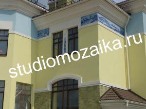 Мозаичное панно - Фасад частного дома.