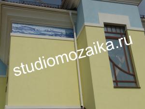 Мозаичная композиция -Фасад дома.