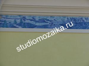 Мозаичное панно -Фасад частного дома.