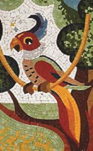 Мозаичное панно -Попугай.