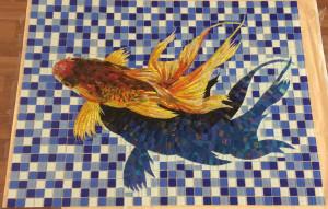 Готовое Панно Рыбка на дно бассейна.