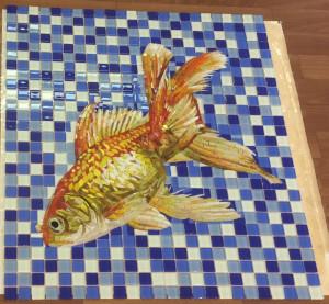 Готовое мозаичное панно  для чаши бассейна.
