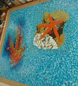 Укладка -Мозаичное панно Морской Мир.