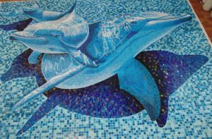 Мозаичное панно в бассейн.