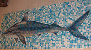 Изготовление мозаики - Акула.