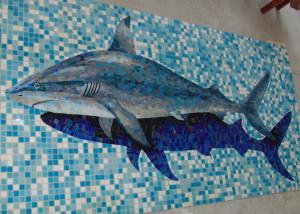 Объём -Акула для бассейна