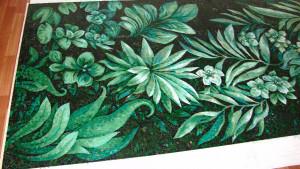 Изготовление панно в материале мозаика.