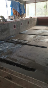 Дно бассейна -Подготовка поверхности.