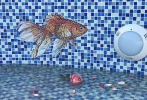 Мозаичное панно - Рыбка.