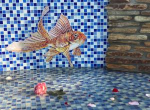 Отделка бассейна -Рыбка.