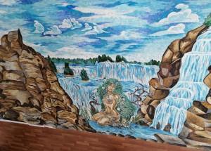 Мозаичное панно для ванной.